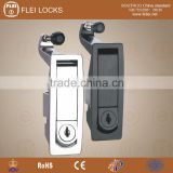 CE Rohs new lever latch assembly with flush trigger alloy Plane Lock for electric metal box door