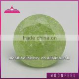 apple green round ice cubic zirconia in bulk sale