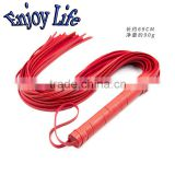 CW002RED 59cm PU Leather Fetish Bondage Sex Whip BDSM Sex Toys For Couples Spanking Paddle