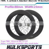 Road bicycle wheel 700c carbon road bike clincher wheel 88mm carbon clincher Track wheel wheelset