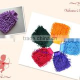 Hot selling high-efficient cleaning accessories big chenille household microfiber cleaning gloves made in china