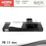 1X2 1X4 1X8 HDMI Splitter V1.3 High Speed support 3D 1080P Full HD Hub Repeater 340MHz