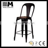 metal material replica high back antique chair