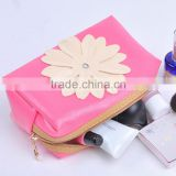 Fashion Ladies Necessarie PU Leather Cosmetic Bag