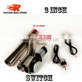 2 inch type y Stainless steel Electric exhaust pipe with swtich
