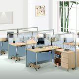 High End Office Glass Partition Design Modern Office Cubicle Workstation for 6 Person(SZ-WS338)