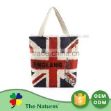 New Product Superior Quality Custom Made Handled Small Jute Bag With Clear Front