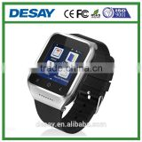 Desay Bluetooth Phone Anti-lost Call/SMS/Twitter/Facebook Pedometer GPS Smart GSM Watch DS-09 with SIM for Android