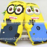 Minions back cover for Iphone 6 5.5 inch Hot selling cute silicon rubber soft Pegman phone cases shell for Iphone 6 plus