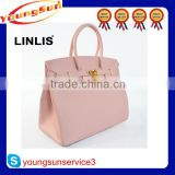 Factory price fashion genuine ostrich leather handbags ladies 2015