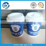 Custom Logo Printed Disposable Double Wall Corrugated Paper Coffee Cup With Lids                                                                         Quality Choice