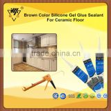 Brown Color Silicone Gel Glue Sealant For Ceramic Floor