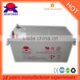 CE ISO 200ah 12V GEL ups storage battery deep cycle inverter battery