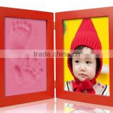 Clay Handprint & Footprint Baby Keepsake Double Fold Photo Frame Kit
