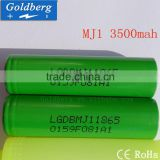 Hot selling real capacity lg 18650 MJ1 3500mah 10A 18650 3.7v battery 18650 cell for torch light