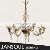 10 lamps clear glass chandelier gold finish round latern modern pendant lights for pub bars