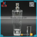 2016 the best design octagon awl shape crystal perfume glass bottles 50ml                                                                                                         Supplier's Choice