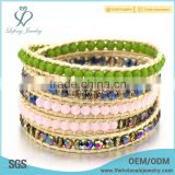Fashion seed bead bohemian style jewelry,colorful crystal bracelet
