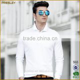 Presley oem New fashion men's casual regular fit blank long sleeve custom polo shirt