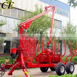 10ton 12ton log trailer with crane for forestry working