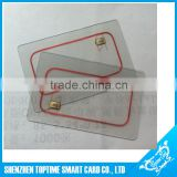 High quality transparent RFID hotel key card , transparent NFC card