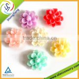 high quality plastic resin flower,resin flower cabochons,resin flower beads