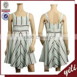 Bright color cotton&linen fabric spaghetti strap sleeveless latest dress designs for ladies WD141231519