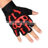 Mens Cycling Bike Sports Breathable Racing Half Finger Gloves