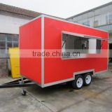 2015 HOT SALES BEST QUALITY food van on street running double-layer stainless steel food van customized food van