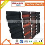 colorful heat resistant villa aluminum roofing sheet/Wanael roof tile factory/Stone coated metal roof tile
