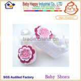 pretty girl new design wholesale crochet baby booties