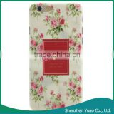 Yellow Background Fresh Rose Pattern PC Color Print Protective Case for iPhone 6