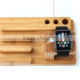 Enviromental material bamboo charging holder stand for apple watch/bamboo watch holder/Mobile Phone Holder
