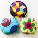 Latest Waterproof Design Ladies Rubber Squeeze Hand Purse Round Coin Purse for Lady