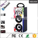 BBQ KBQ-604 10W 1200mAh battery dual 3 inch subwoofer Mini Portable Karaoke Player Bluetooth karaoke speaker system