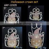 latest group tiara pumpkin face tiara halloween crowns