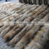 Real Fur Trim / Wholesale Raccoon Fur Trim / Detachable Raccoon Fur Collar