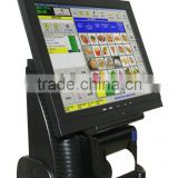 Single Touch screen 15' POS system hardware with 80MM thermal printer built in                                                                         Quality Choice