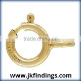 1/20 14K Gold Filled Jewelry Findings 5.0mm Spring Ring Light w/Open Ring GP