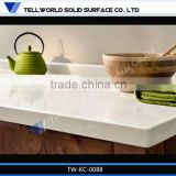 Hot sale modern glossy white acrylic solid surface kitchen top dining room home furniture type