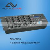 Portable Professional 4 channel usb sd microphone DJ Mixer