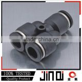 pneumatic one-touch union Y black plastic y branch pipe fittings ,hose connector