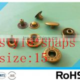 wholesale snap shirt buttons for shirts coat Metal Brass Snap Button With Four Parts/metal snap buttons