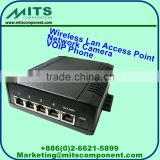 MITS Gigabit High Power 5 port PoE Switch, PoE Extender, IEEE802.3 - for Wireless Lan AP, Network Camera, & VOIP Phone
