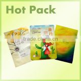 plastic bag for facial mask packing, plastic packaging bag for cosmetics facial mask, facial mask package bag