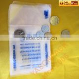 High quality PE material plastic coin bags for bank using
