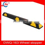 1630mm Rubber Car Stopper with reflective tape/ Rubber Wheel Stop For Underground Garage