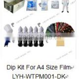 Dip Kit for A4 size water transfer printing tank stainless steel No. LYH-WTPM003 film, spray gun, protective clothes