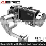 New 2016 Aibird uoplay Gyro Gimba stabilizer for Action camera Go Pro Hero3 3+ 4 SJ cam XiaoYi camera and any phones up 6 inches