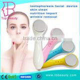 hand held mini massage battery operated ionic skin care facial beauty machine
